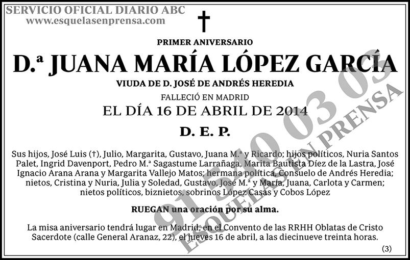 Juana María López García